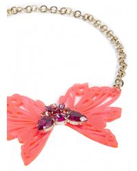 Matthew Williamson | Pink Neon Butterfly Necklace | Lyst
