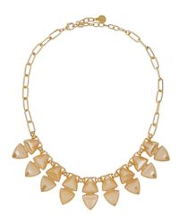 R.j. Graziano | Metallic Double-row Bib Necklace | Lyst