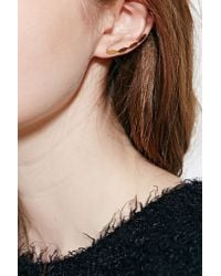Urban Outfitters | Black 18k Gold & Sterling Silver Ear Climber Earring | Lyst