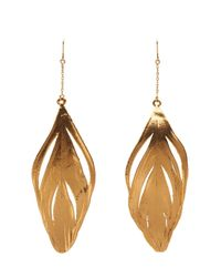 Aurelie Bidermann - Plume Yellow-Gold Earrings - Lyst