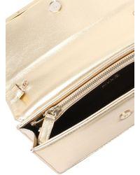 Liu Jo | Metallic 'ariete' Clutch Bag With Frame | Lyst