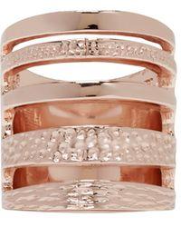 Pamela Love | Pink Rose Gold Single Cage Ring | Lyst