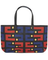 Yarnz - Black Pinball Leather Tote Bag - Lyst
