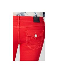 True Religion | Red Super Skinny Cropped Womens Jean | Lyst