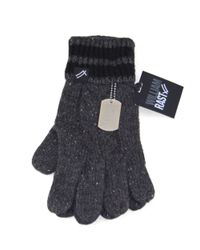 William Rast | Gray Cable Knit Gloves for Men | Lyst