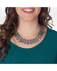 Piper Strand | Metallic Silver Link Necklace | Lyst