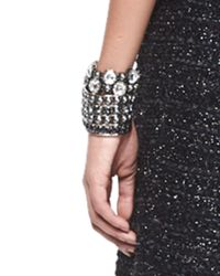 St. John | Metallic Signature Pearly & Crystal Cuff | Lyst