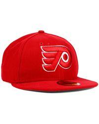 KTZ - Red Philadelphia Flyers C-dub 59fifty Cap for Men - Lyst