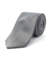 Racing Green - Gray Wilson Geometric Design Tie for Men - Lyst