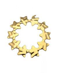 Tuleste - Metallic 'interlocking Star' Collar Necklace - Lyst