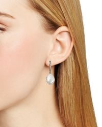 Nadri - Metallic Pave Dipped Drop Earrings - Lyst