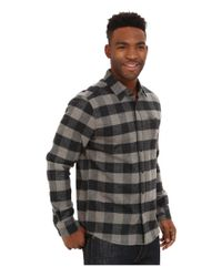 Volcom | Black Echo Long Sleeve Flannel Top for Men | Lyst