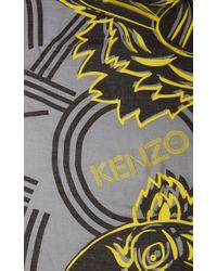 KENZO | Yellow Big Monster Wool Scarf | Lyst