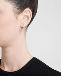 Yvonne Léon | Metallic 18k Gold Seven Diamond Lobe Earring | Lyst