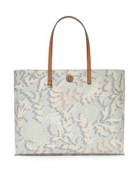 Tory Burch - Blue Kerrington Square Tote - Lyst