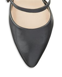French Connection | Black Mandalay Leather Sandal Heels | Lyst
