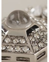 Roberto Cavalli - Metallic Dropped Geometric Earrings - Lyst