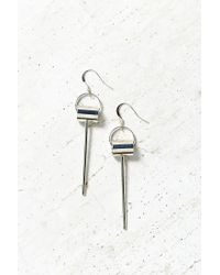 Urban Outfitters | Metallic Industry Metal Drop Earring | Lyst