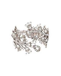 Oscar de la Renta | Metallic Floral Embellished Bracelet | Lyst