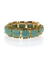 Vince Camuto | Green Gold-Tone & Aqua Stretch Bracelet | Lyst