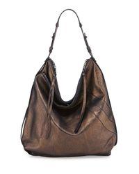 Kooba - Metallic Alina Washed Leather Hobo Bag - Lyst