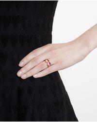 Marie-hélène De Taillac - Pink 18K Gold Spinel Duet Ring - Lyst