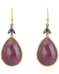 Sara Weinstock | Metallic Ruby & Diamond Double-drop Earrings | Lyst