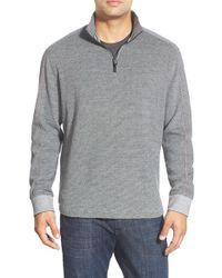 Robert Graham - Gray 'comstock' Quarter Zip Pullover Sweater for Men - Lyst