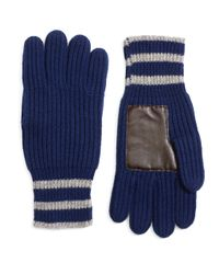 Brooks Brothers - Blue Tipped Cashmere Gloves for Men - Lyst