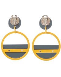 Marni | Gray Large Grey Retro Hoop Clip-on Earrings | Lyst