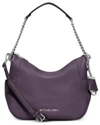 Michael Kors | Purple Chandler Leather Shoulder Bag | Lyst
