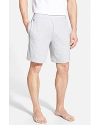 Lacoste | Gray Pique Lounge Shorts for Men | Lyst