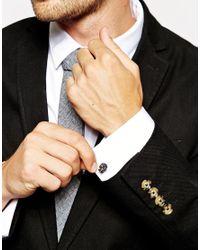 ASOS - Black Skull Cufflinks for Men - Lyst