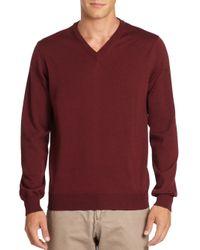 Saks Fifth Avenue | Brown Merino Wool Sweatshirt for Men | Lyst