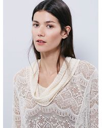 Free People - Natural Womens Rain Fall Cowl Neck Pullover - Lyst