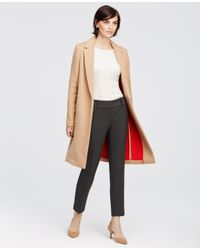 Ann Taylor   Natural Signature Wool Blend Coat   Lyst