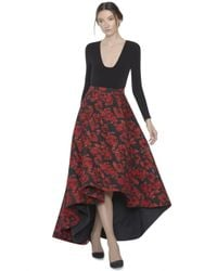 Alice + Olivia - Red Cohe Asymetrical Maxi Skirt - Lyst