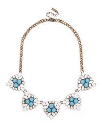 BaubleBar | Blue Crystal Holly Necklace | Lyst