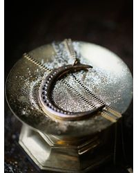 Free People - Metallic Moon Necklace - Lyst