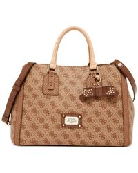 Guess - Brown Cheatin Heart Girlfriend Satchel - Lyst