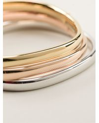Vj By Vanni Pesciallo - Metallic Set Of Three Bangles - Lyst