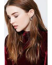 Urban Outfitters | Metallic Delicate Rhinestone Ear Climber Earring | Lyst