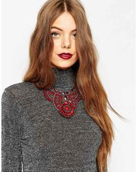 ASOS - Multicolor Ornate Beaded Collar Necklace - Lyst