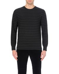 PS by Paul Smith - Gray Crew-neck Wool Jumper for Men - Lyst