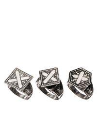 ASOS - Metallic Travellers Ring Pack - Lyst