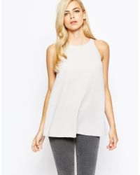 AX Paris | Gray Split Back Top | Lyst