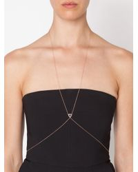 Jacquie Aiche | Pink Triangle Stone Body Chain | Lyst