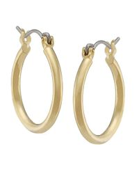 Lauren by Ralph Lauren | Metallic Brass Hoop Earrings | Lyst