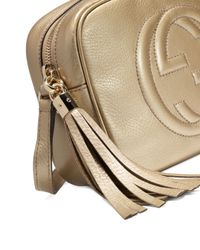 Gucci - Soho Metallic Leather Disco Bag - Lyst