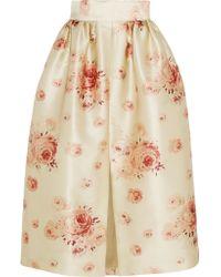 Vilshenko | Metallic Reda Floral-print Satin Skirt | Lyst